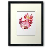 Smash Peach Framed Print
