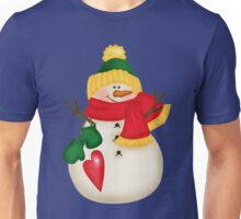 snowman in hat and scarf Unisex T-Shirt