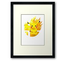 Smash Pikachu Framed Print