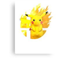 Smash Pikachu Metal Print