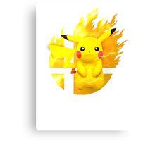 Smash Pikachu Canvas Print