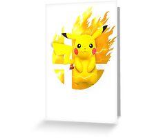 Smash Pikachu Greeting Card