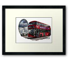 London Red Bus Framed Print