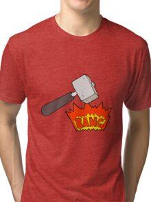 cartoon mallet banging Tri-blend T-Shirt