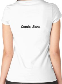 Comic Sans Women's Fitted Scoop T-Shirt