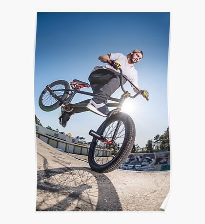 BMX Bike Stunt Poster