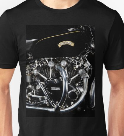 Vincent Black Shadow Engine Unisex T-Shirt