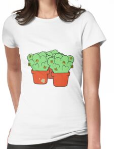 cartoon potted plants Womens Fitted T-Shirt