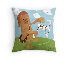 Star Wars babies - inspired by Chewbacca Throw Pillow