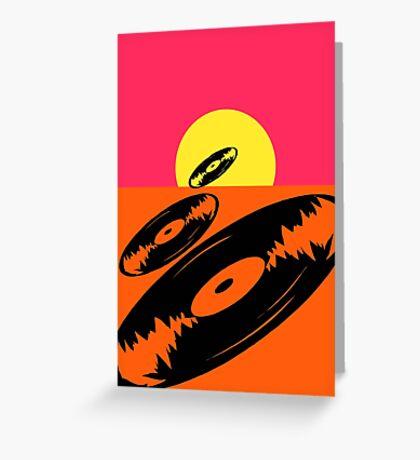 Pop Art Vinyl Record Endless Greeting Card