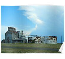 Rusty Grain Silohs--Texas Panhandle Poster