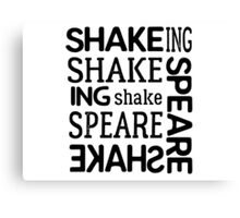 shakespeare typography t shirts Canvas Print