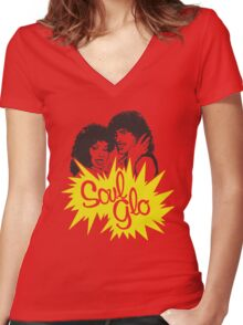 Soul Glo Women's Fitted V-Neck T-Shirt