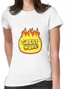 great work cartoon symbol Womens Fitted T-Shirt