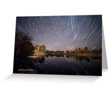 Startrails over Jackson Hole's Newest Park Greeting Card