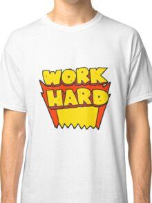 cartoon work hard symbol Classic T-Shirt