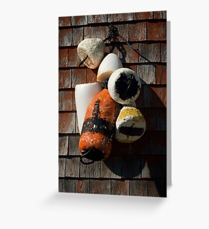 Lobster floats ~ Peggy's Cove Nova Scotia Greeting Card