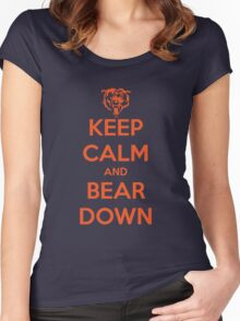 Keep Calm and Bear Down Women's Fitted Scoop T-Shirt