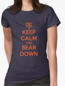 Keep Calm and Bear Down Womens Fitted T-Shirt