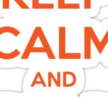 Keep Calm and Bear Down Sticker