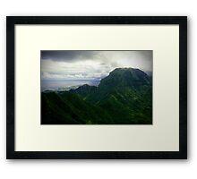 Green Giants - Napali Coast - Kauai  Framed Print