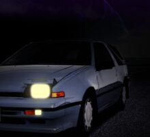 Night Nissan N13 EXA Sticker