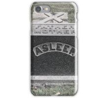 Asleep Tombstone, Greenwood Cemetery, Brooklyn iPhone Case/Skin