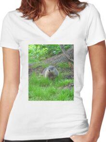 Chuckster Women's Fitted V-Neck T-Shirt