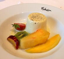 Panna Cotta and Fruit by kathrynsgallery