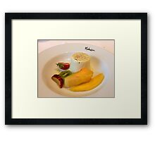 Panna Cotta and Fruit Framed Print