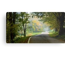 Lower River Road in Autumn Metal Print