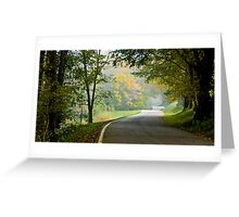 Lower River Road in Autumn Greeting Card