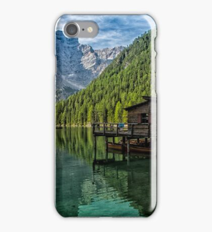 Relax in the nature - Lake Braies Italy iPhone Case/Skin