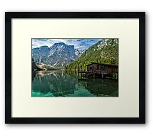 Relax in the nature - Lake Braies Italy Framed Print