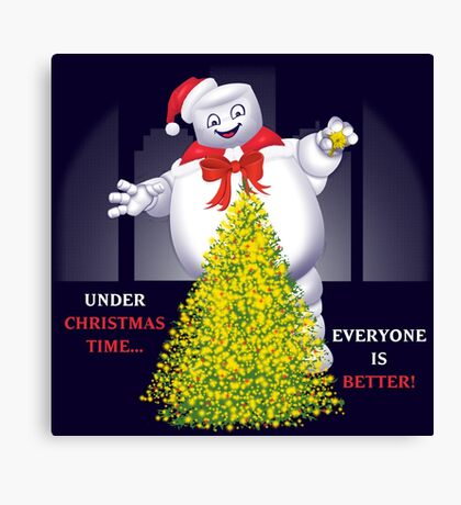Christmas Staypuft Canvas Print