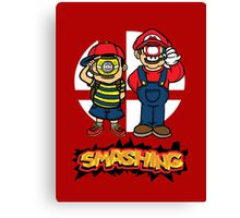 Smashing- B Canvas Print