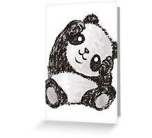Cute Panda Greeting Card