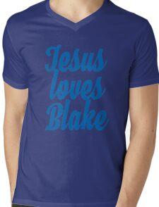 Jesus loves Blake Mens V-Neck T-Shirt