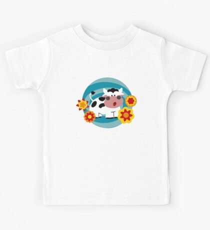 Psychedelic Cow Kids Tee