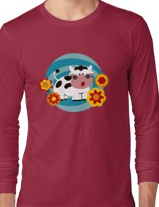 Psychedelic Cow Long Sleeve T-Shirt
