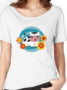Psychedelic Cow Women's Relaxed Fit T-Shirt