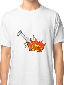 cartoon struck nail Classic T-Shirt