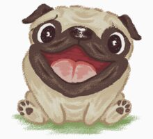 Happy Pug by Toru Sanogawa