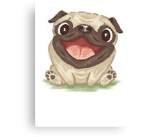 Happy Pug Canvas Print