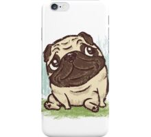 Pug that relaxes iPhone Case/Skin