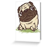 Pug that relaxes Greeting Card