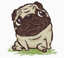 Pug that relaxes by Toru Sanogawa