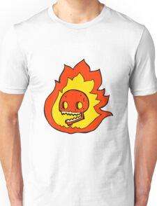 cartoon burning skull Unisex T-Shirt