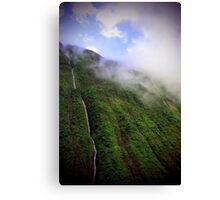 Majestic Falls - Napali Coast - Kauai  Canvas Print