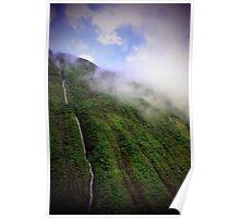 Majestic Falls - Napali Coast - Kauai  Poster
